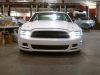 White 2015 Mustang S550 in garage