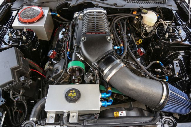 2015 Ford Mustang S550 Watson Racing Top Engine view
