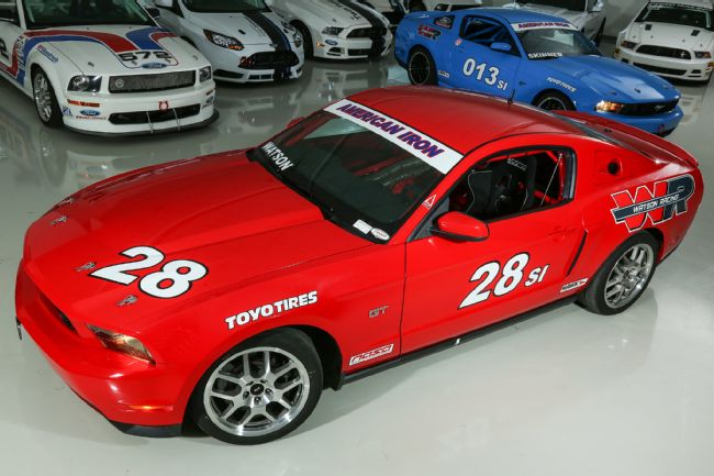 s197 mustang watson racing red coupe